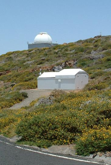 The SuperWASP enclosure on La Palma