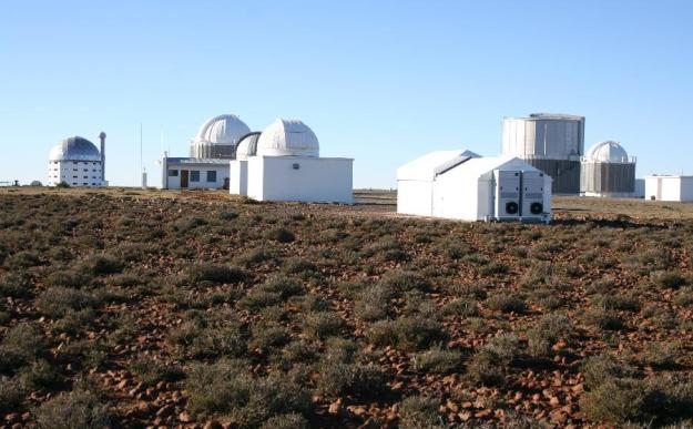 WASP-South (nearest) among SAAO telescopes.