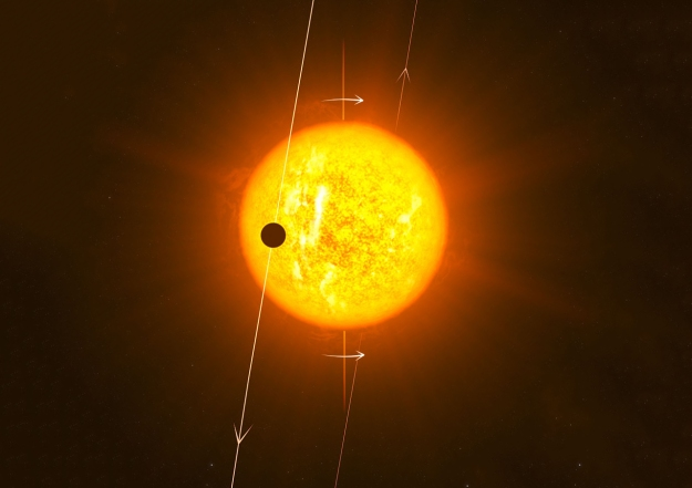Hot Jupiter exoplanet WASP-79b polar orbit